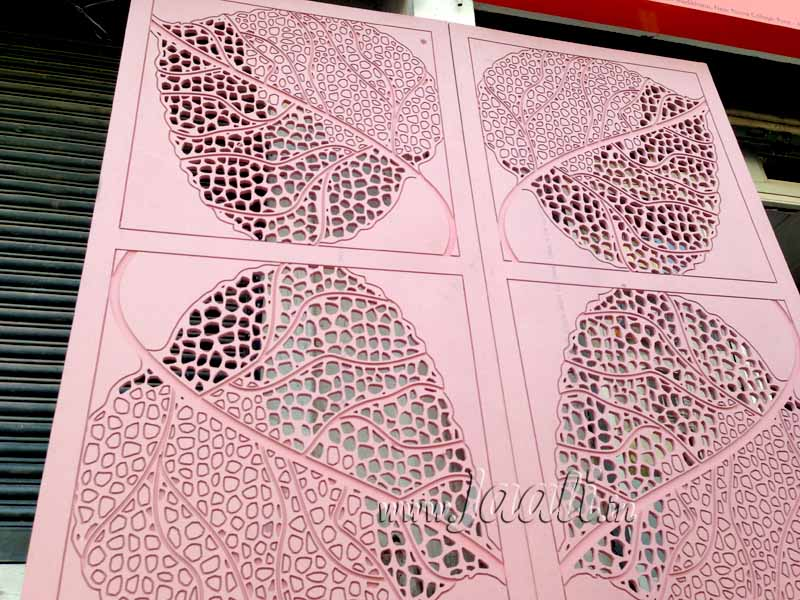 011 18mm MDF Engraved & Cut Partition Jaali