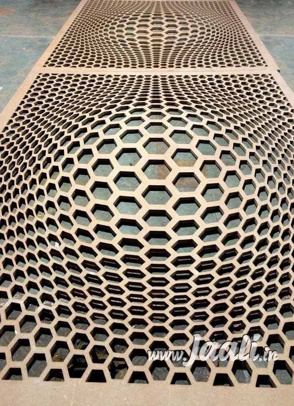 012 12mm MDF Illusion Jaali for Ceiling