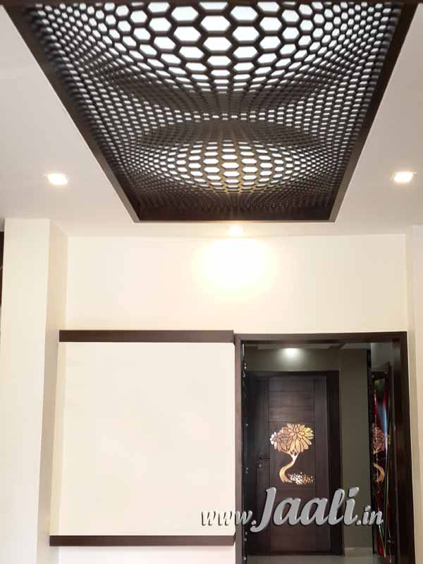 013 18mm MDF Illusion Design Jaali in the Ceiling