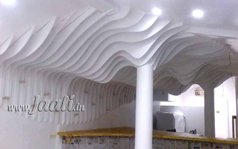 043 12mm Plywood Profiles Illustrating an Abstract Wave in the Ceiling