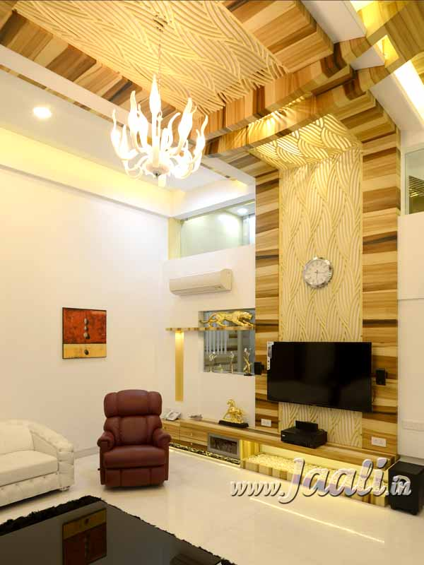 057 18mm MDF Chamfered & Through Cut Jaali for T.V. Unit & Ceiling