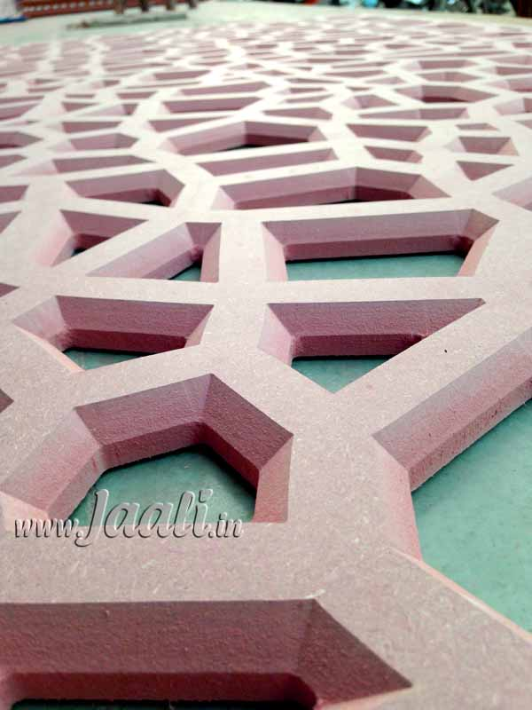 068 18mm MDF Chamfered Abstract Design Jaali