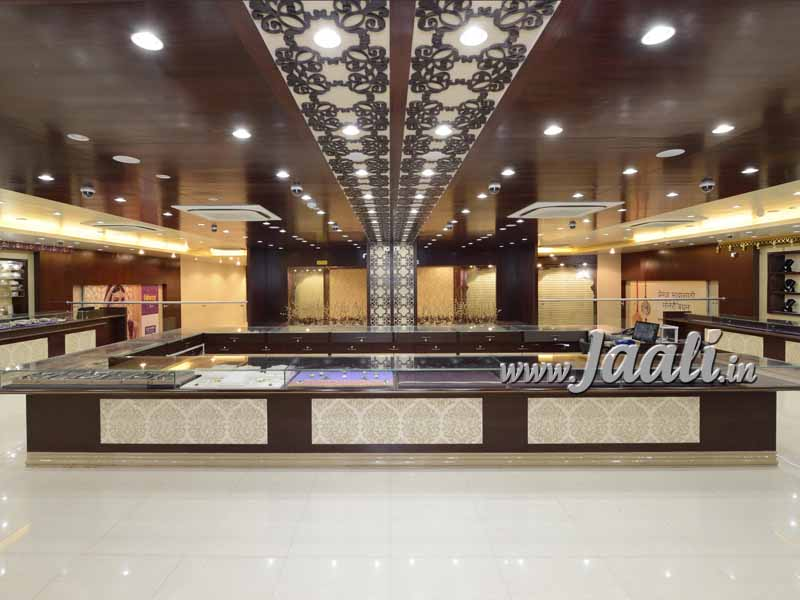 080 8mm MDF Jaali for a Jewellery Showroom