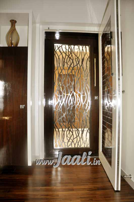 088 3mm (304 Grade) Stainless Steel Jaali for Safety Door