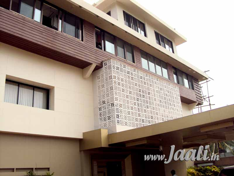 104 12 mm Cement Sheet Jaalis for Center Facade